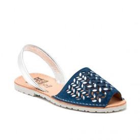 Sandale din piele naturala AVARCA AURA Marino