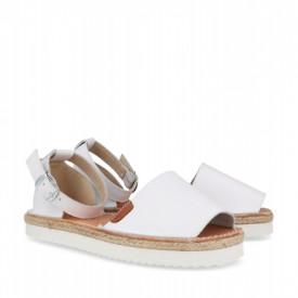 Sandale din piele naturala AVARCA FLAMENCO White