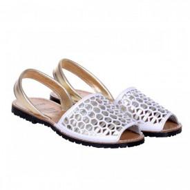 Sandale din piele naturala, AVARCA HEXAGONO gold