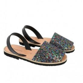 Sandale din piele naturala AVARCA MINORQUINES Glitter TRICOLOR