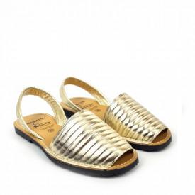 Sandale din piele naturala AVARCA PUFFY GOLD