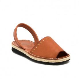 Sandale din piele naturala AVARCA RIM Camel