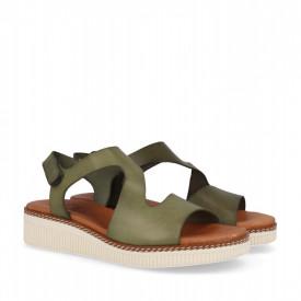 Sandale din piele naturala MAMBO Khaki