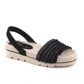 Sandale din piele naturala RIOT Black