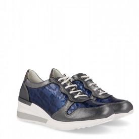 Sneakers din piele naturala GRAZIA Blue