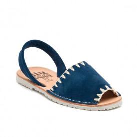 Sandale de dama din piele intoarsa, AVARCA ARTIZAN Blue