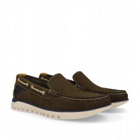 Pantofi sport din piele naturala ROVER Khaki