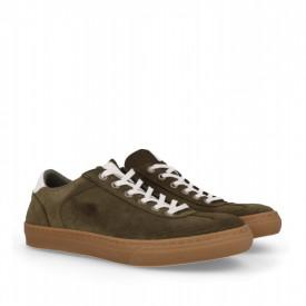 Pantofi sport din piele naturala SMITH Khaki