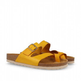 Papuci din piele PUCCA Yellow