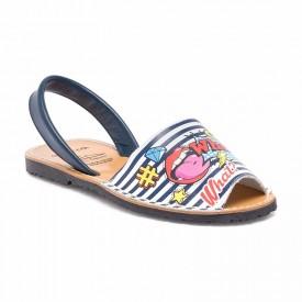 Sandale de dama din piele naturala, AVARCA CARTOON