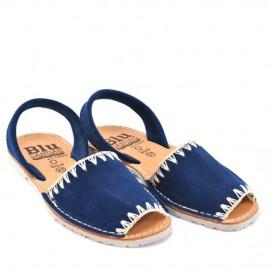 Sandale din piele intoarsa, AVARCA ARTIZAN Blue