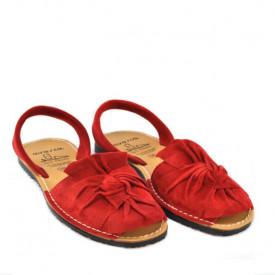 Sandale din piele intoarsa, AVARCA BOW Red