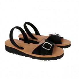 Sandale din piele MINORQUINES Gel VELOUR Black