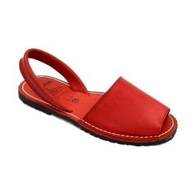 Sandale din piele naturala, AVARCA COLOUR POP Red