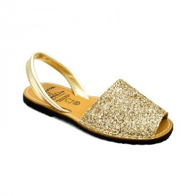 Sandale din piele naturala, AVARCA GLITTER Gold