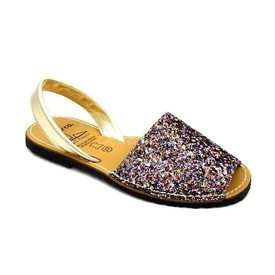 Sandale din piele naturala, AVARCA GLITTER Multicolor