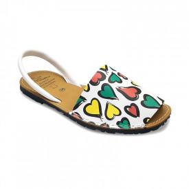 Sandale din piele naturala, AVARCA HEARTS