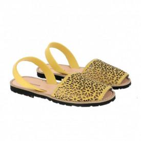 Sandale din piele naturala AVARCA MINORQUINES Laser Mustard