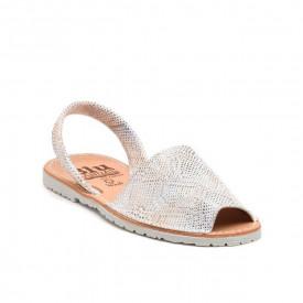 Sandale din piele naturala, AVARCA REPTILE METAL