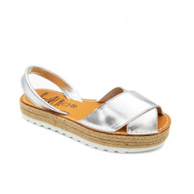 Sandale din piele naturala, AVARCA REVERIA Silver