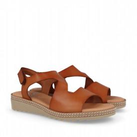 Sandale din piele naturala MAMBO Camel