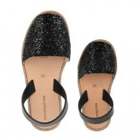 Set mama-copil sandale MINORQUINES Glitter Black