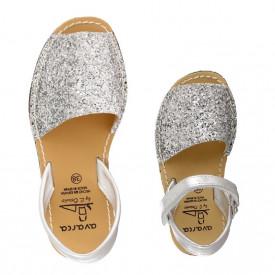 Set mama-fiica sandale AVARCA Glitter Silver