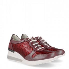 Sneakers din piele naturala GRAZIA Red