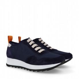 Sneakers din piele naturala MAIRA Bleumarin