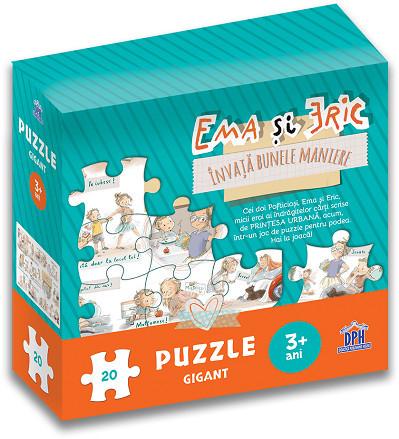 Ema si Eric invata bunele maniere - puzzle gigant - coperta