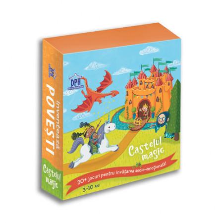 Inventeaza povesti - Castelul magic - Stimulează creativitatea cu 36 de jetoane pentru inventarea poveștilor