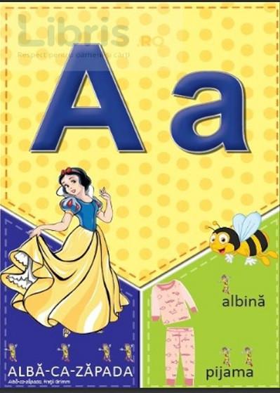 Literele alfabetului - planse A4 pentru clasa pregatitoare - plansa 2