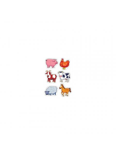 Puzzle animale domestice - 2 piese