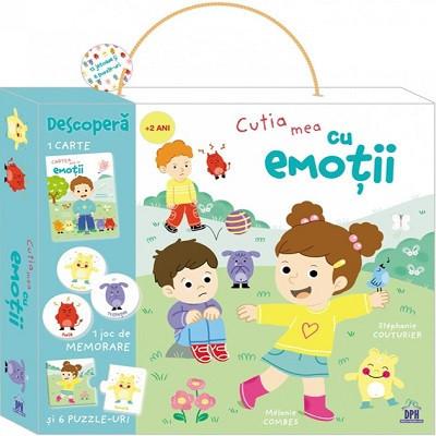 Cutia mea cu emotii - set format din carte si carduri pentru explorarea emotiilor, de la 2 ani