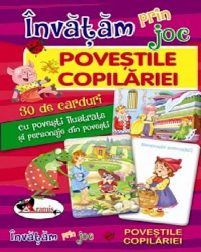 Invatam prin joc - Povestile copilariei - set de carduri format mare
