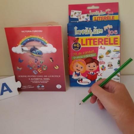 """Pachet promo """"Alfabet"""": poezii ilustrate si joc de jetoane despre litere si alfabet"""