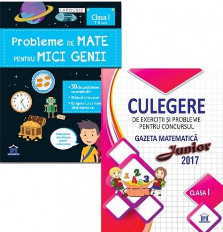 Pachet Sunt bun la mate - clasa I: Probleme de mate pentru mici genii, Culegere de exercitii si probleme Gazeta Matematica Junior