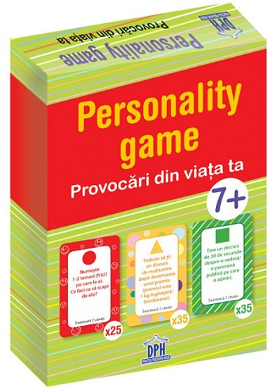 Personality game. Provocari din viata ta - coperta fata - joc de explorare a emotiilor pentru copii de la 7 ani