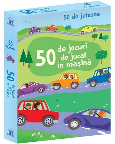 50 de jocuri de jucat in masina - set de carduri cu jocuri pentru copii, ideal in calatorii