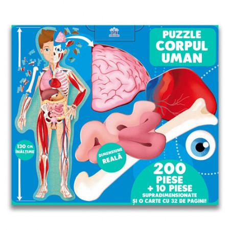 Calatoreste, Invata, Exploreaza. Corpul uman - set puzzle 210 piese si carte - interior 4