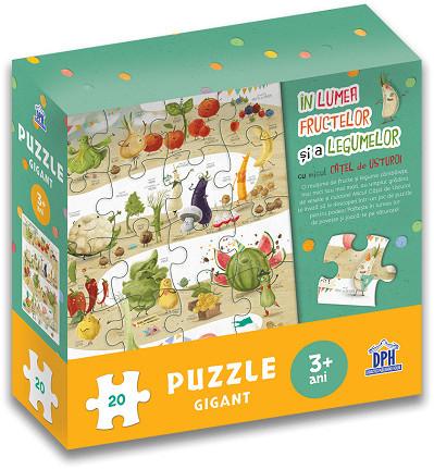 In lumea fructelor si a legumelor cu Micul Catel de Usturoi - puzzle gigant - coperta