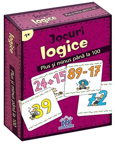 Jocuri logice - Plus si minus pana la 100 - jetoane cu calcule cu numere pana la 100