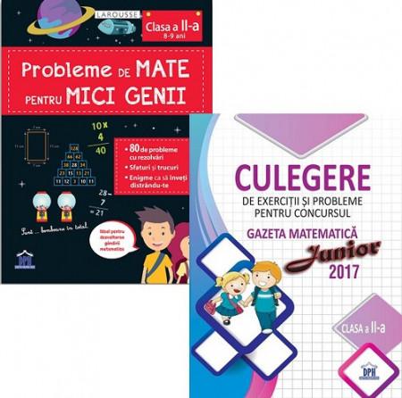 Pachet Sunt bun la mate - clasa a II-a: Probleme de mate pentru mici genii, Culegere de exercitii si probleme Gazeta Matematica Junior