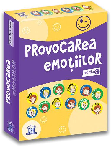 Provocarea emotiilor, editia a II-a - joc de familie de descoperire a emotiilor. Recomandat de la 6 ani - cutie