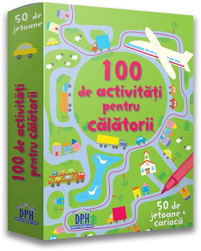 100 de activitati pentru calatorii - jetoane scrie-sterge - fata cutie