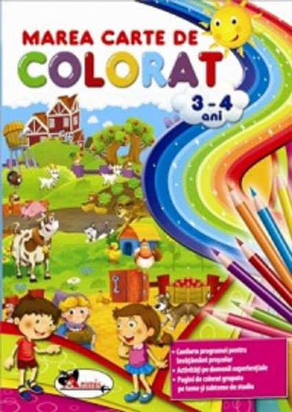 Marea carte de colorat 3-4 ani - respecta programa scolara