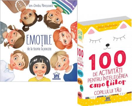 Pachet Emotii 3-7 ani: Emotiile de la teorie la poezie, 100 de activitati pentru intelegerea emotiilor copilului tau