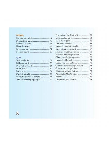 Stafeta anotimpurilor - poezii de Vali Slavu - cuprins