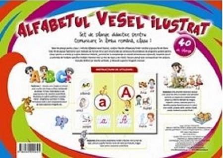 Alfabetul vesel ilustrat  - set de 40 de planse pebtru clasa I - coperta