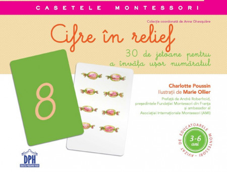 Caseta Montessori Cifre in relief